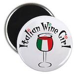 Italian Wine Girl Magnet