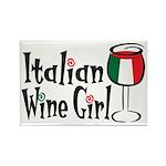 Italian Wine Girl Rectangle Magnet (100 pack)