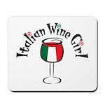Italian Wine Girl Mousepad