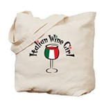 Italian Wine Girl Tote Bag