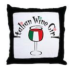 Italian Wine Girl Throw Pillow