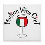 Italian Wine Girl Tile Coaster