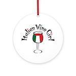 Italian Wine Girl Ornament (Round)