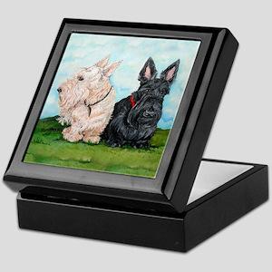 Scottish Terrier Companions Keepsake Box