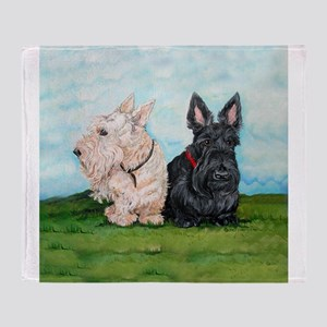 Scottish Terrier Companions Throw Blanket