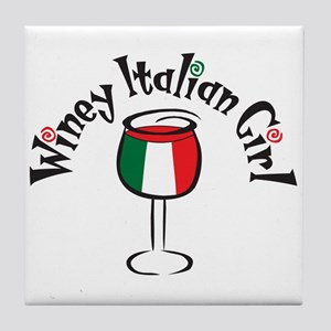 Winey Italian Girl Tile Coaster