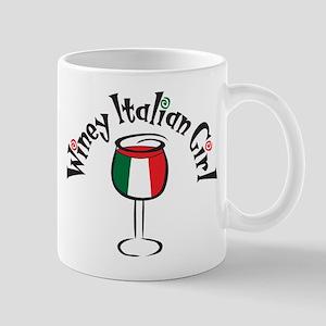 Winey Italian Girl Mug