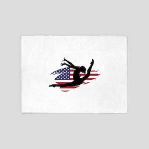 USA Gymnast 5'x7'Area Rug