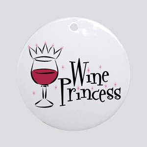 Wine Princess Ornament (Round)