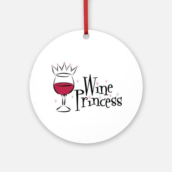 Wine Princess Ornament (Round)