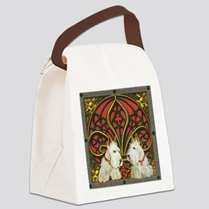 Celtic Wheaten Scotties Canvas Lunch Bag