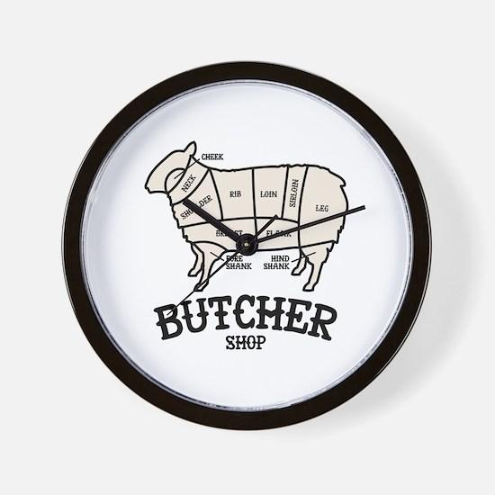 Butcher Lamb Wall Clock