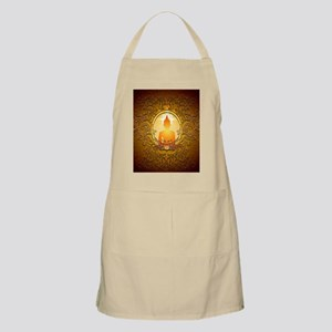 Buddha silhouette with floral elements Apron