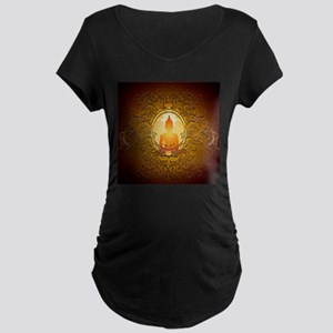 Buddha silhouette with floral elements Maternity T
