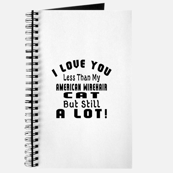 I Love You Less Than My American Wirehair Journal