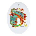 Wind Dragon Oval Ornament