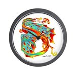 Wind Dragon Wall Clock