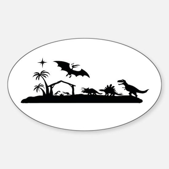 Dinosaur nativity christmas Decal