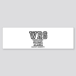 AIRPORT CODES - WRG - WRANGELL, SEA Bumper Sticker