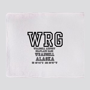 AIRPORT CODES - WRG - WRANGELL, SEAP Throw Blanket