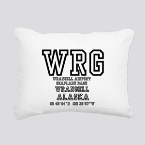 AIRPORT CODES - WRG - WR Rectangular Canvas Pillow
