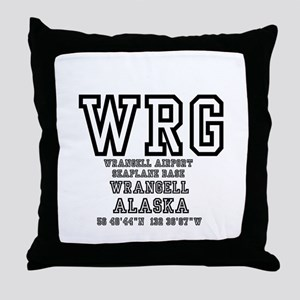 AIRPORT CODES - WRG - WRANGELL, SEAPL Throw Pillow