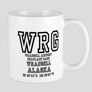 AIRPORT CODES - WRG - WRANGELL, SEAPLANE BASE Mugs