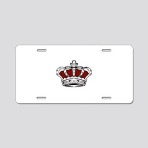Crown - Red Aluminum License Plate