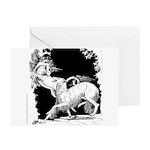 Borzoi and Unicorn Greeting Cards (Pk of 10)