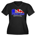 Penn Can original logo Women's Plus Size V-Neck Da