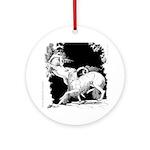 Borzoi and Unicorn Ornament (Round)