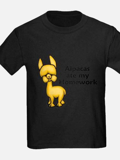 Alpacas ate my Homework T-Shirt