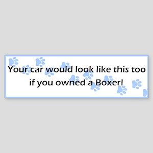 Your Car Boxer Bumper Sticker