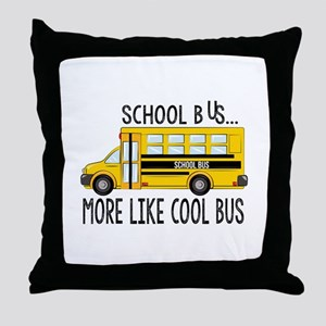 Cool Bus Throw Pillow
