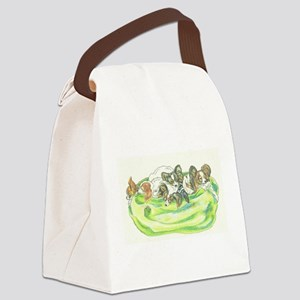 Papillons sleeping Canvas Lunch Bag