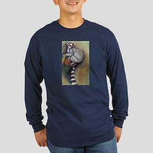 lemur 1 long sleeve dark t-shirt