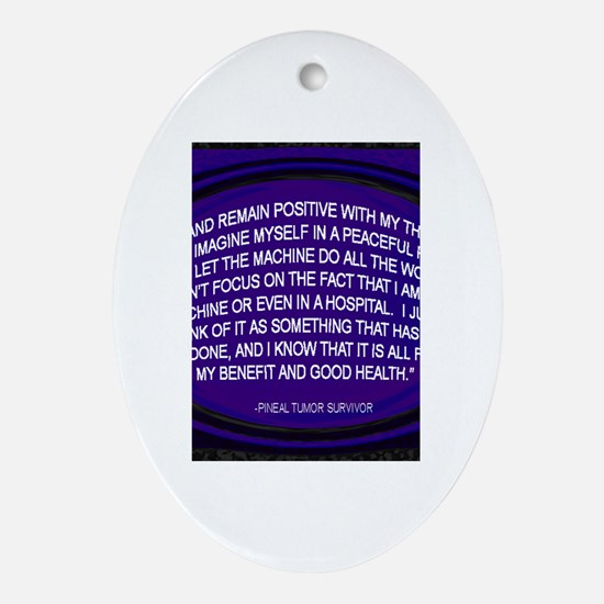 Funny Brain cancer Oval Ornament