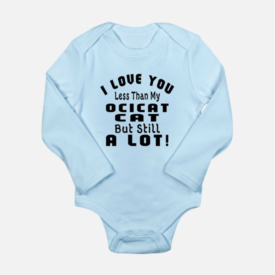 I Love You Less Than M Long Sleeve Infant Bodysuit