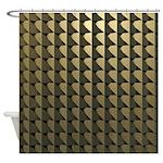 Yellow Brass Shower Curtain
