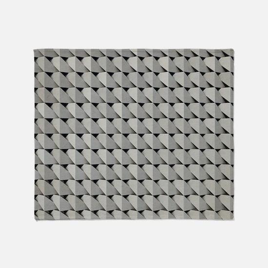 Grey Cardboard Throw Blanket