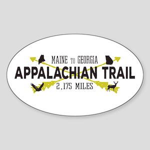 Hip Appalachian Trail Retro Badge Sticker