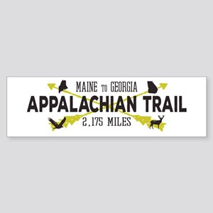 Hip Appalachian Trail Retro Badge Bumper Sticker