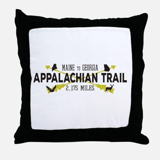 Hip Appalachian Trail Retro Badge Throw Pillow