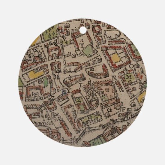 Funny Oxford england Round Ornament