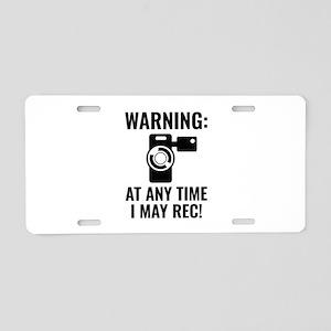 I May Rec Aluminum License Plate