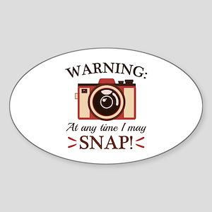 I May Snap Sticker (Oval)