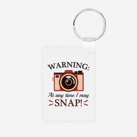 I May Snap Aluminum Photo Keychain