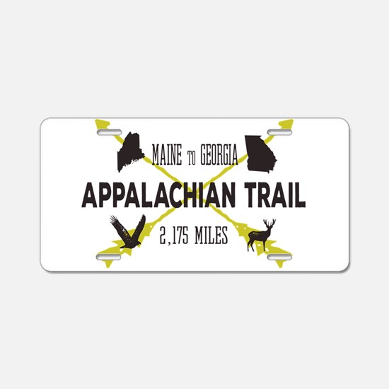 Unique Appalachian trail Aluminum License Plate