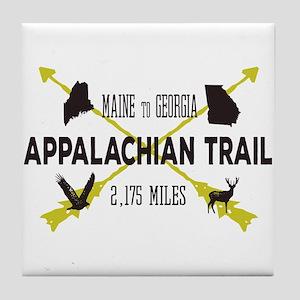 Cool Appalachian Trail Hiking Badge Tile Coaster