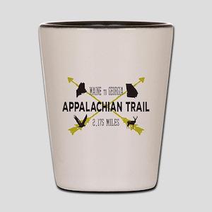 Cool Appalachian Trail Hiking Badge Shot Glass